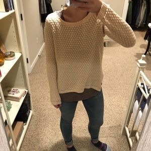 Maison Jules Sparkly Cream Sweater
